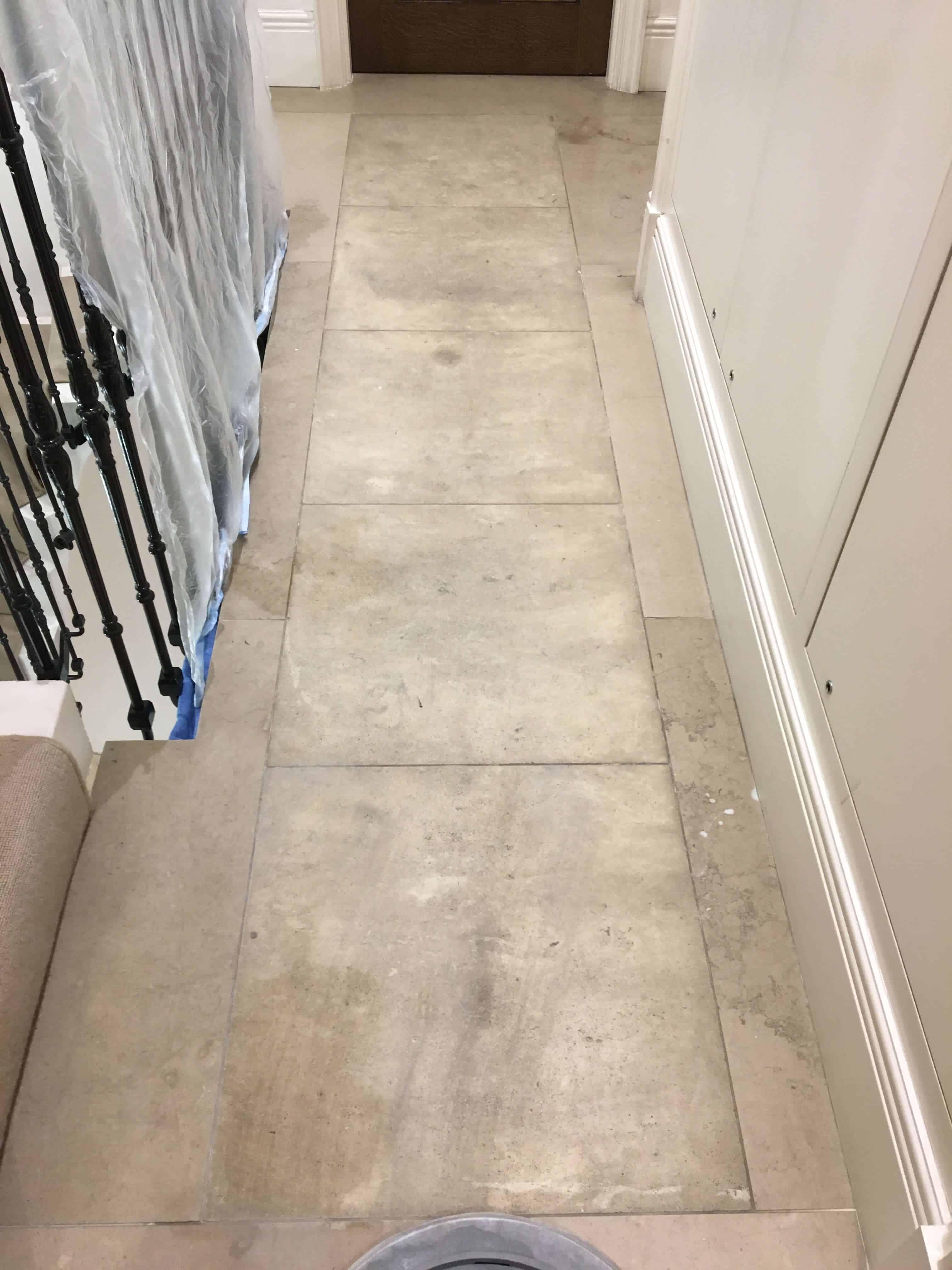 Limestone cleaning and polishing