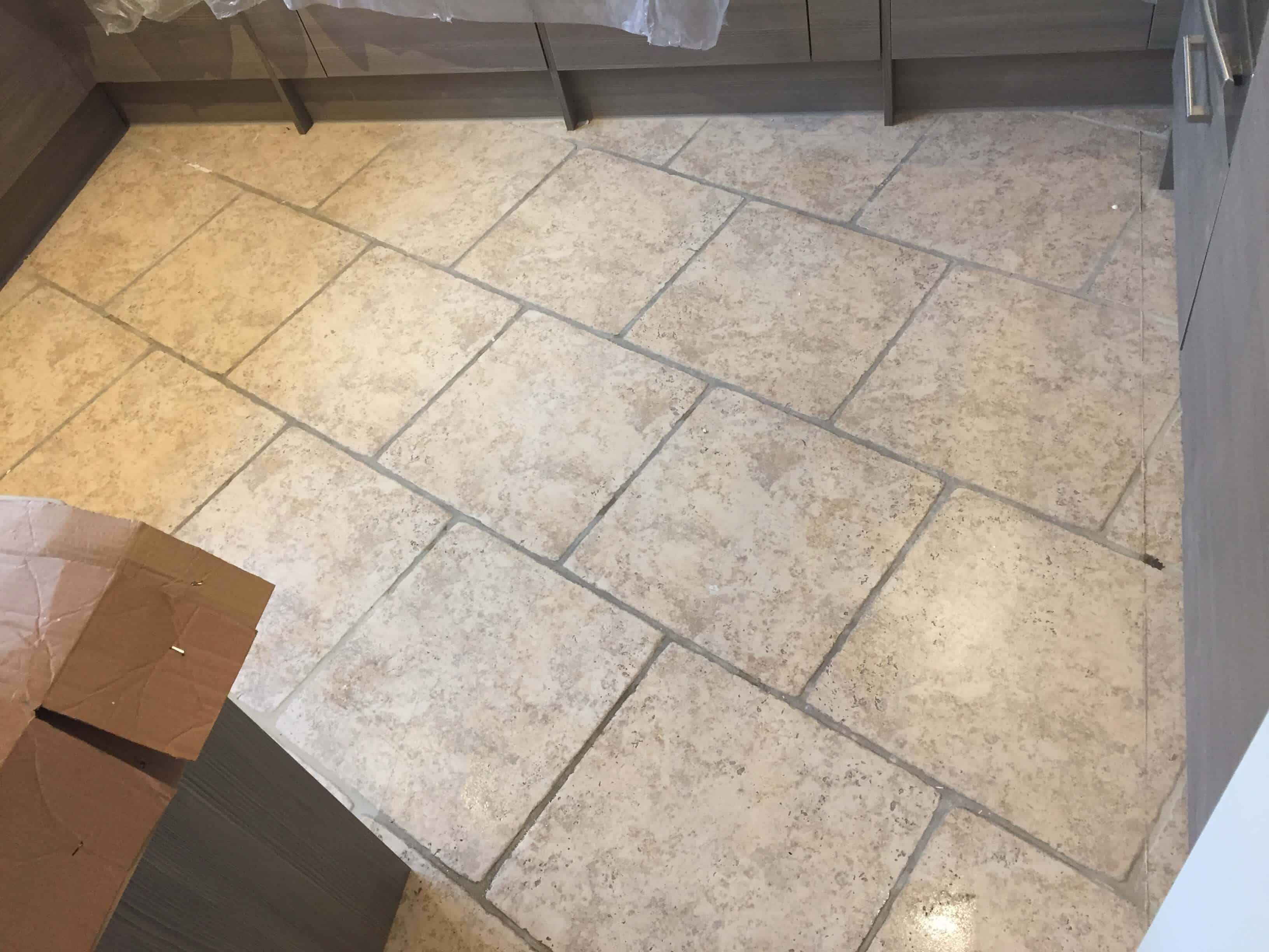 Limestone floor cleaning & restoration