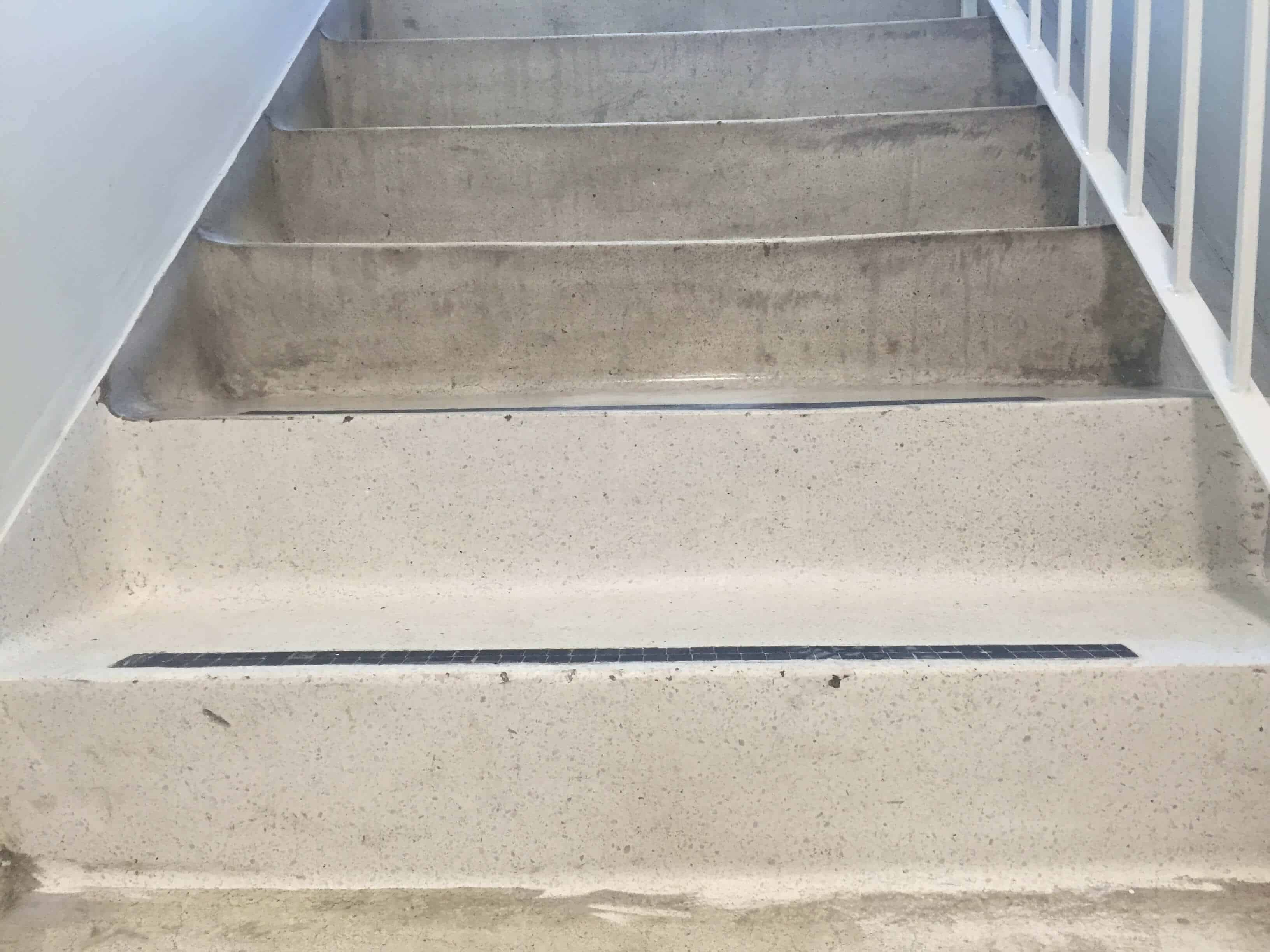 Terrazzo stairs polishing and repair