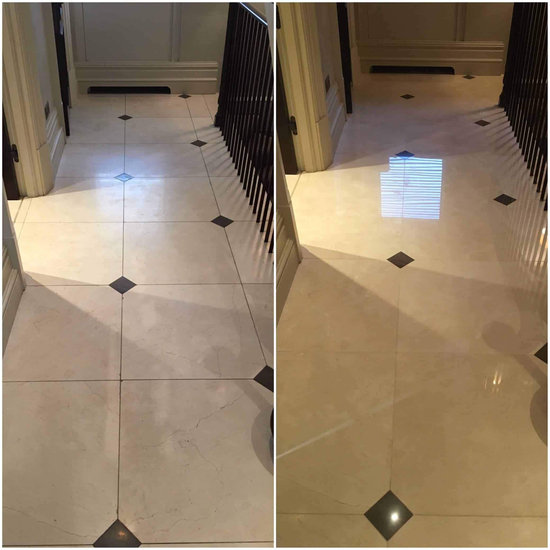 Mozaic floor polishing