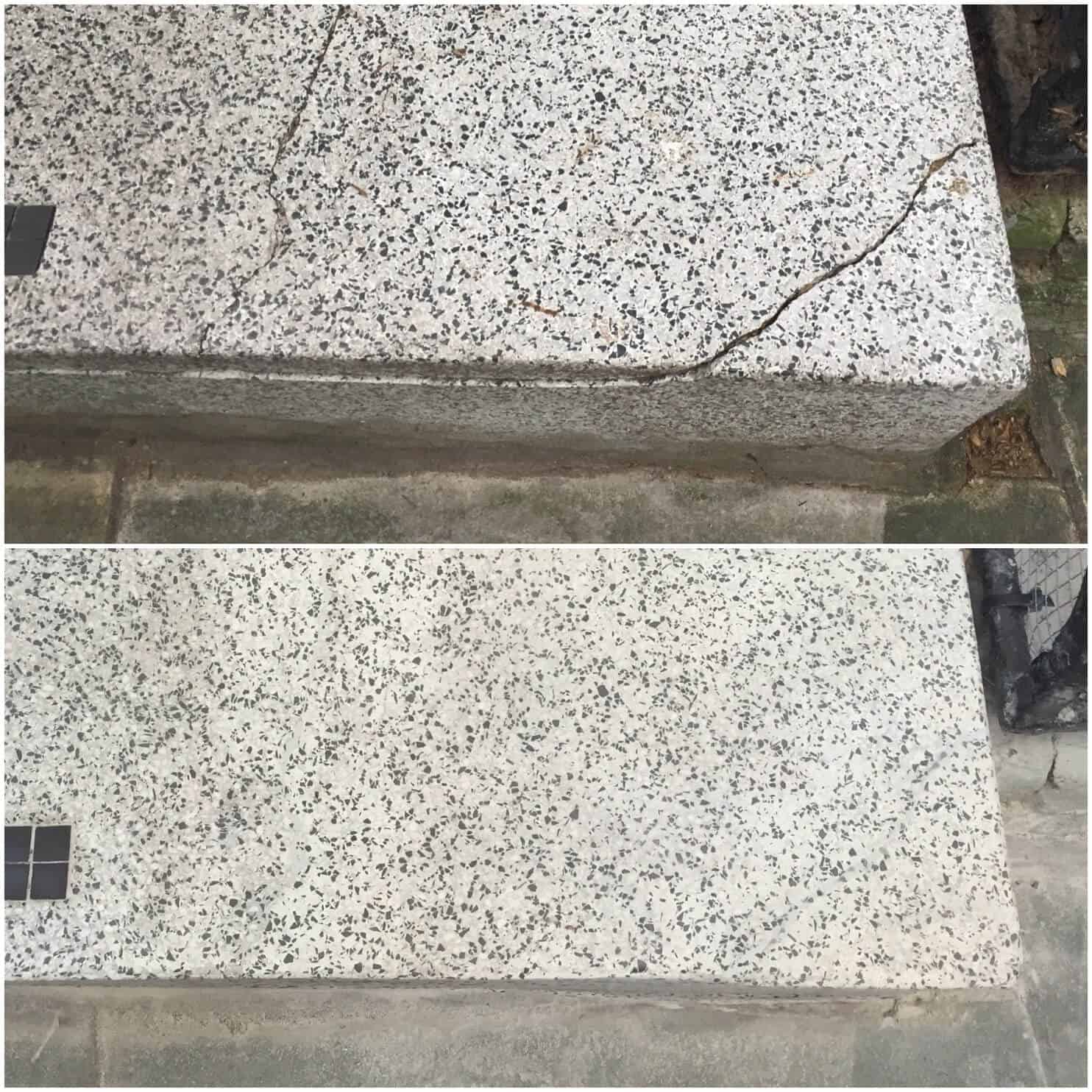 terrazzo crack and chip repairs