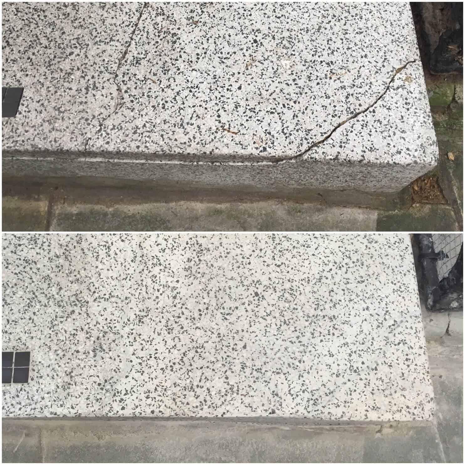 terrazzo crack and chip repairs