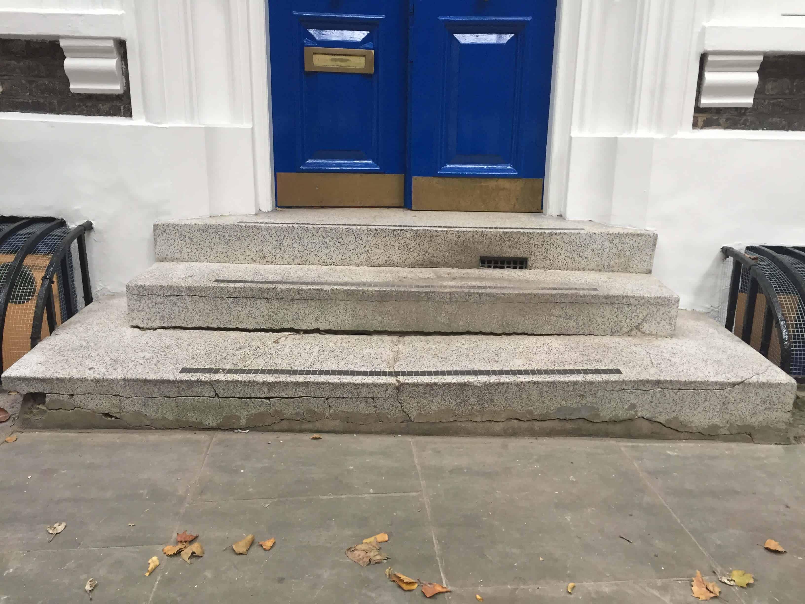 Terrazzo stairs repairs