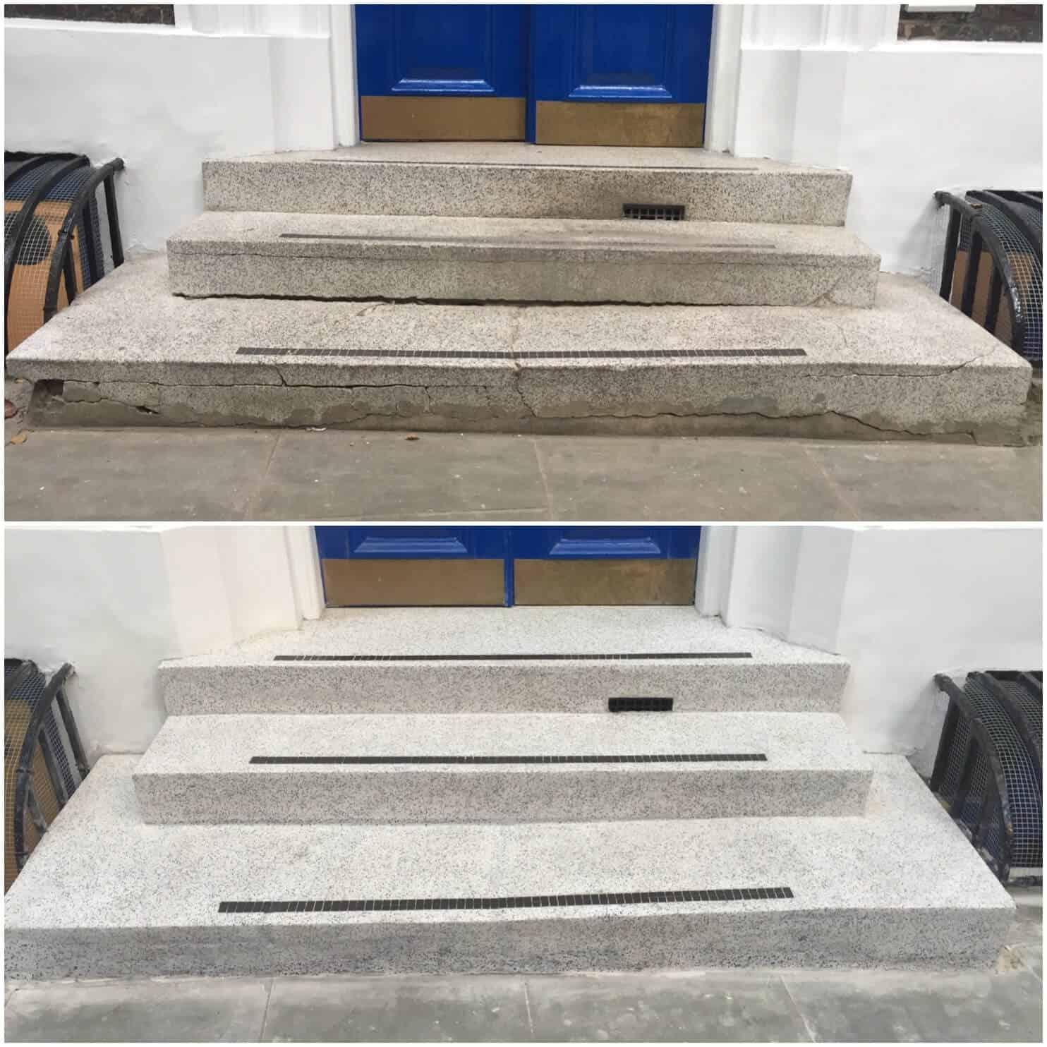 Terrazzo steps repairs