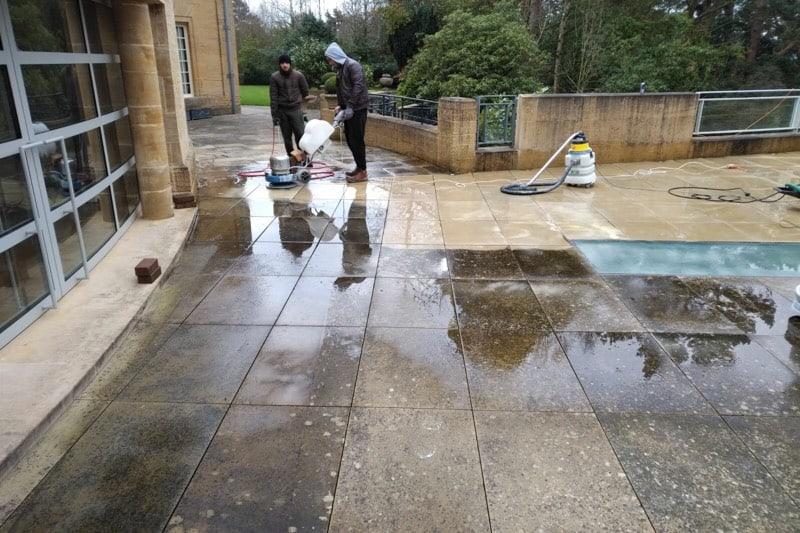 Clean outside sandstone2