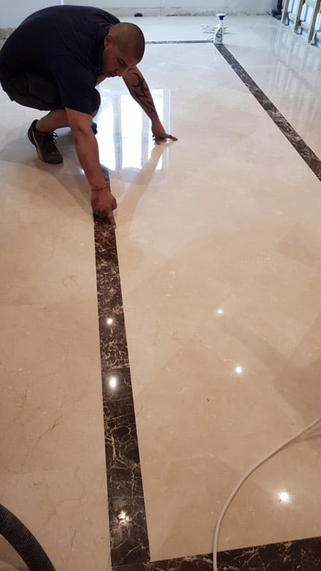 Polishing Limestone floor2