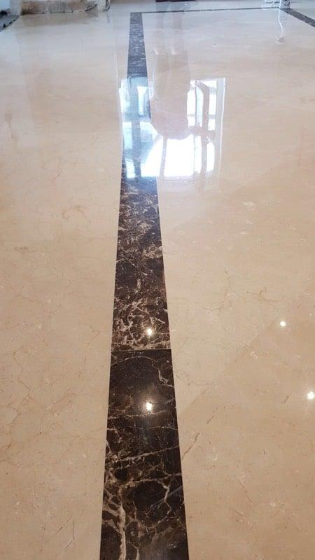 Polishing Limestone floor3