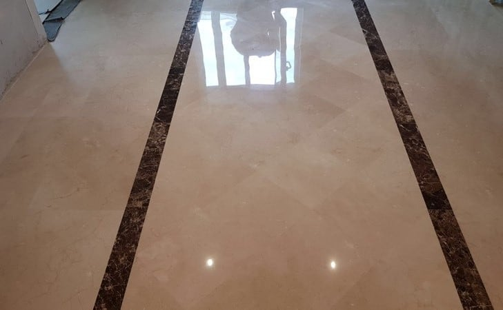 Polishing Limestone floor4