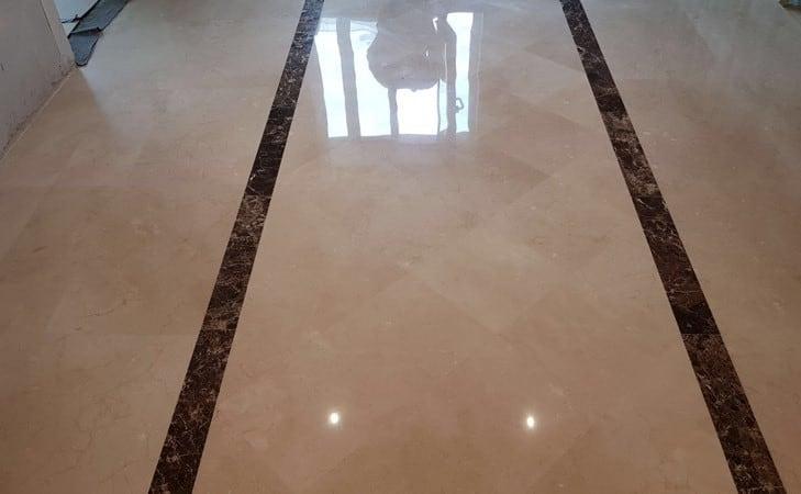 Polishing Limestone floor4