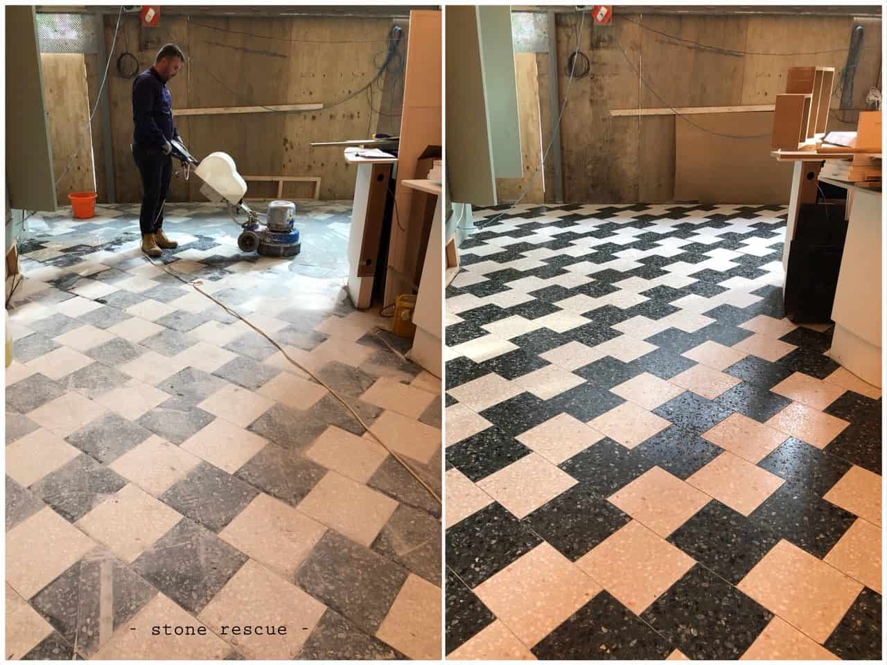 Terrazzo tiles restoration