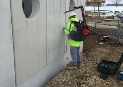 concrete wall polishing
