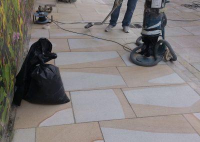 Outdoor Yorkstone/Sandstone restoration
