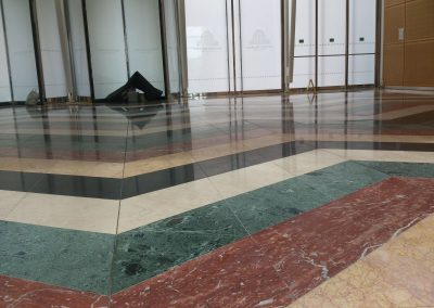 Rainbow Marble Floor restoration