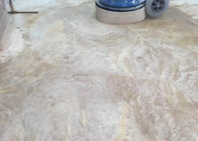 concrete floor remove glue
