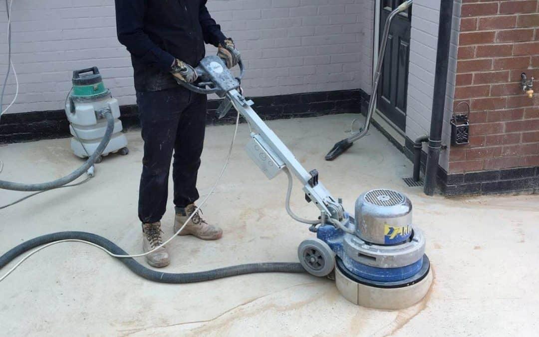 Concrete floor restoration