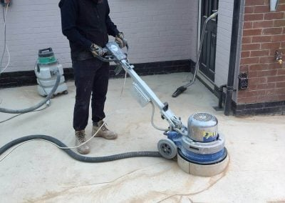Concrete floor restoration