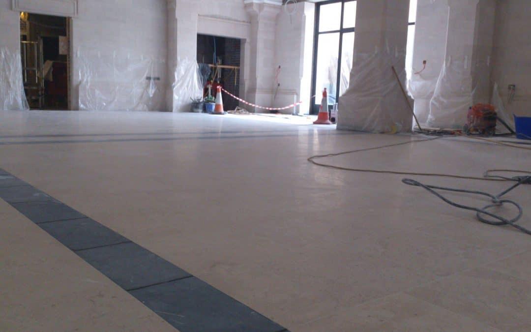 Grinding & Polishing granite floor