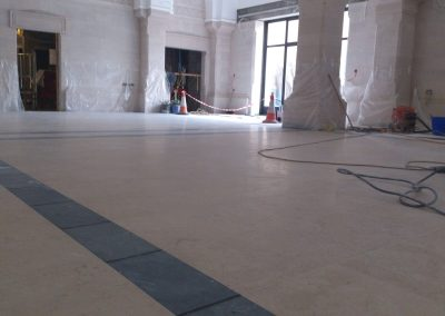 Grinding & Polishing granite floor
