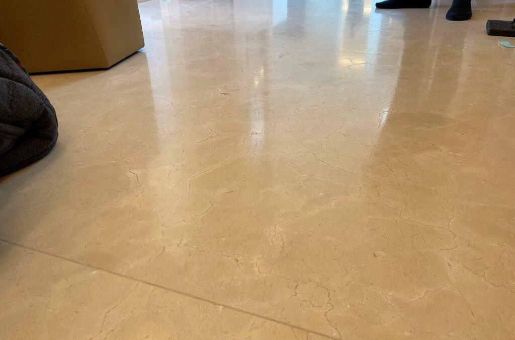 Leather finish marble floor