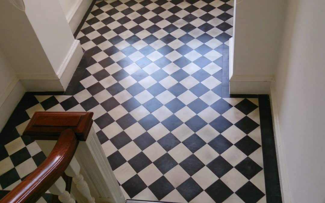 Deep clean the floor including the grout line