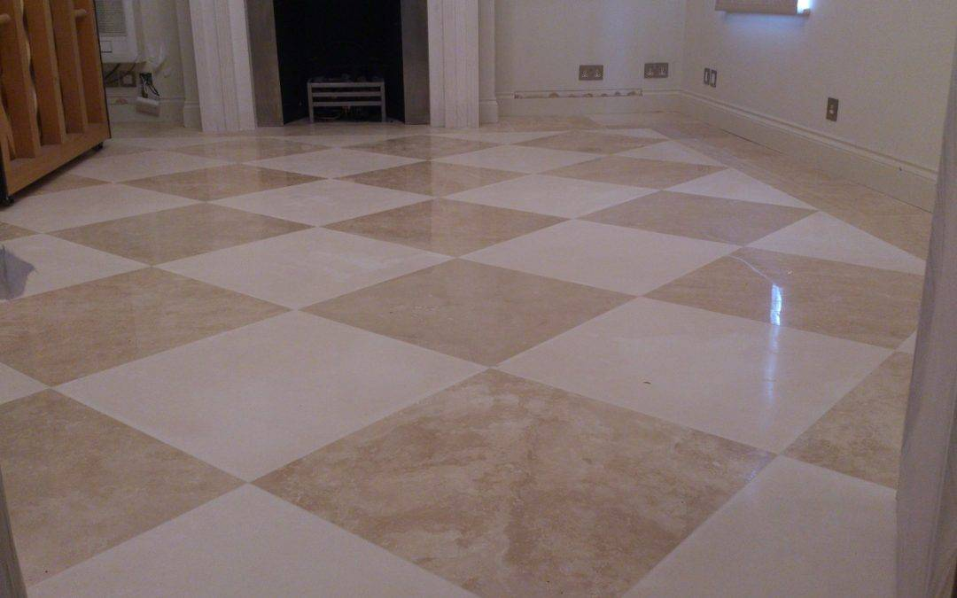 Mosaic Limestone & Travertine floor restoration