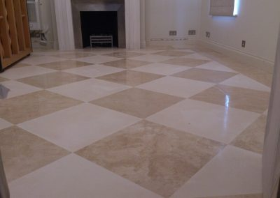 Mosaic Limestone & Travertine floor restoration
