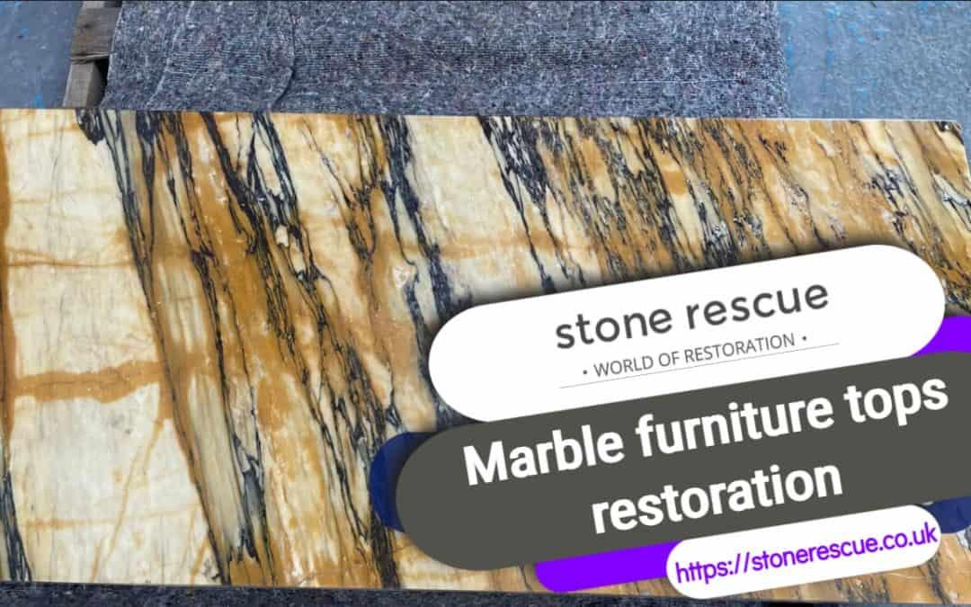 Marble furniture tops restoration